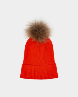 Оранжевая шапка вязаная Gulliver Gulliver Wear 22008GJC7309 оранжевого цвета