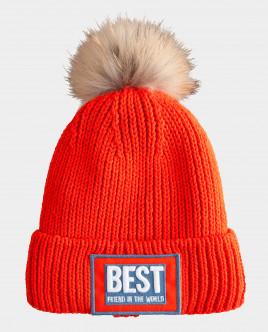 Оранжевая шапка вязаная на подкладке Gulliver Gulliver Wear 22008GJC7311 оранжевого цвета