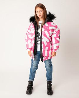 Розовая куртка зимняя Gulliver