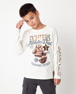 Белая футболка с длинным рукавом Gulliver