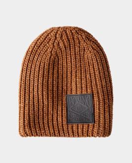 Бежевая шапка вязаная на подкладке Gulliver