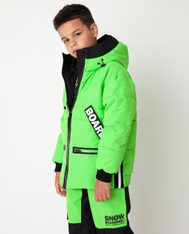 Зеленая куртка демисезонная Gulliver
