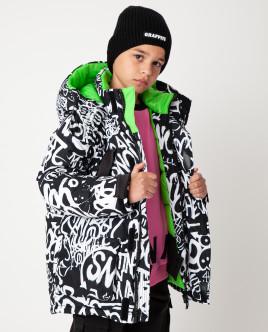 Черная куртка зимняя Gulliver