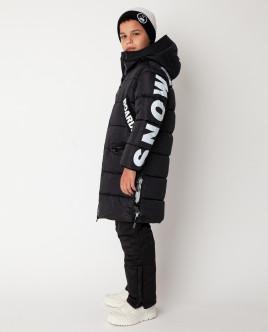 Черное пальто зимнее Gulliver Gulliver Wear 22012BJC4507 черного цвета
