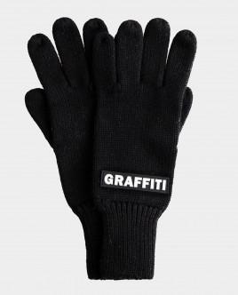 Черные перчатки вязаные Gulliver Gulliver Wear 22012BJC7603 черного цвета
