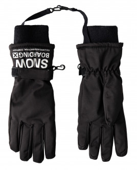 Черные перчатки плащевые Gulliver Gulliver