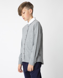 Gray button-down shirt Gulliver