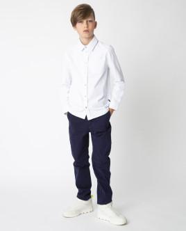 Белая рубашка на кнопках Gulliver