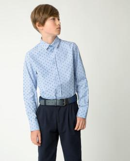Голубая рубашка с принтом Gulliver