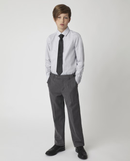 Купить 220GSBC2319, Серая рубашка, Gulliver Wear, серый, 134, Мужской