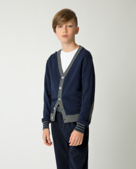Blue slim cardigan Gulliver
