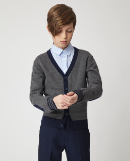 Gray slim cardigan Gulliver