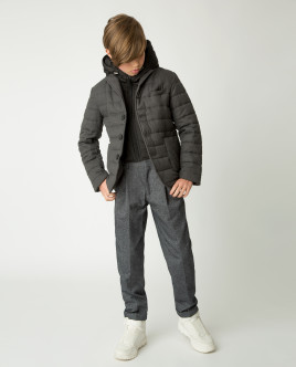 Gray light overcoat Gulliver