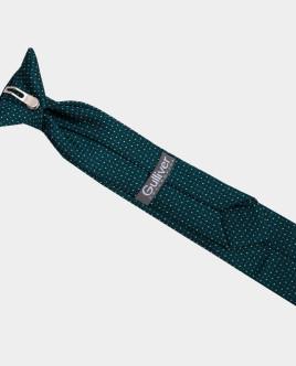 Зеленый галстук в горошек Gulliver