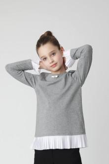 Серая футболка с длинным рукавом Gulliver Gulliver Wear 220GSGC1202 серого цвета