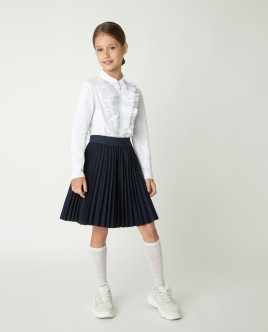 White blouse with frill Gulliver