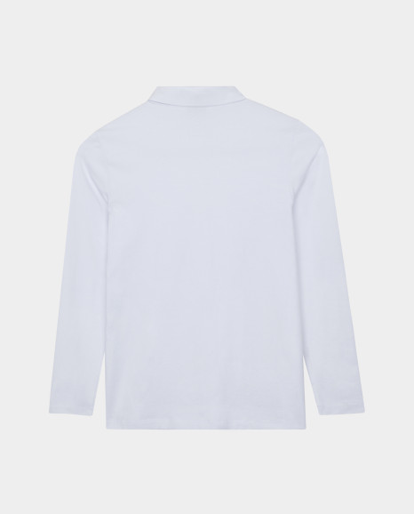 Белая блузка с жабо