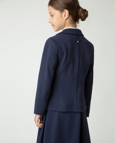 Синий пиджак из джерси Gulliver