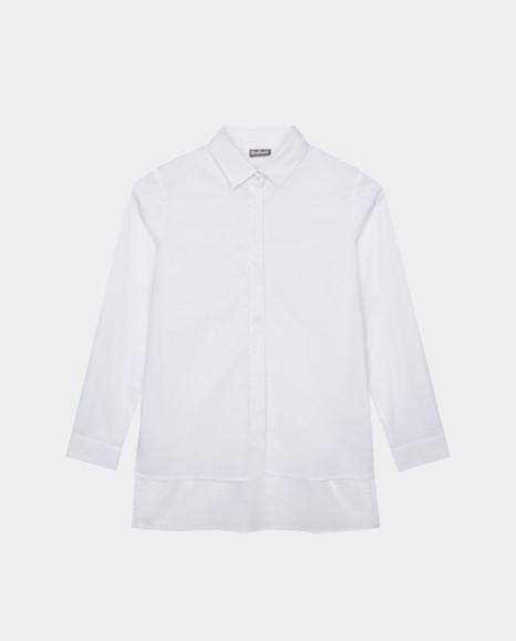 Белая блузка с удлиненной спинкой Gulliver