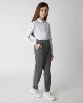 Белая блузка с принтом Gulliver Gulliver Wear 220GSGC2204 белого цвета