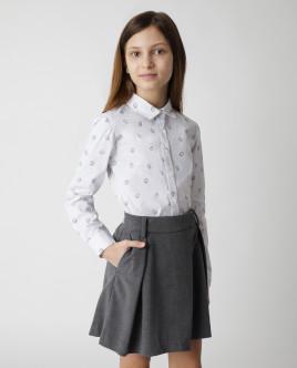 Белая блузка с принтом