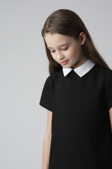 Black dress with short sleeves Gulliver