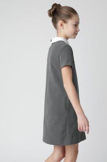 Серое платье с коротким рукавом