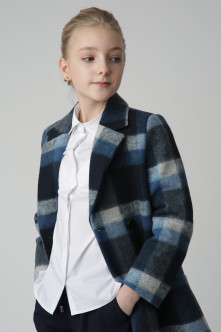 Gray Check Coat Gulliver