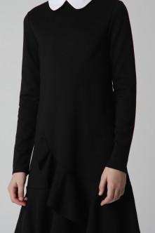 Черное платье из джерси Gulliver