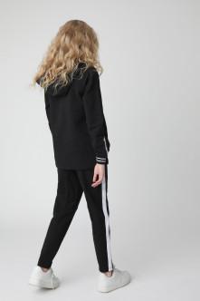 Черные брюки из футера Gulliver