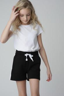 Черные шорты из футера Gulliver