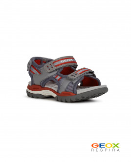 Серые сандалии Geox для мальчика Gulliver
