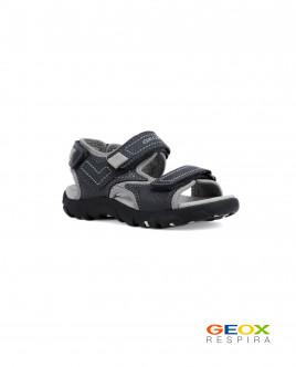 Серые сандалии Geox для мальчика