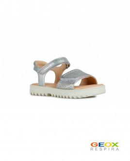 Серебристые сандалии Geox