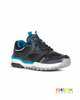 Black sneakers with turquoise accents Gulliver