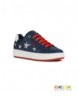 Синие кроссовки Geox со звездами Gulliver