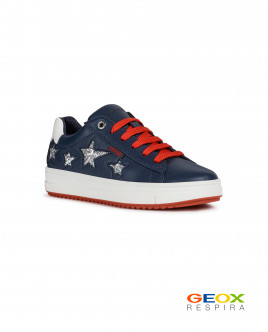 Синие кроссовки Geox со звездами