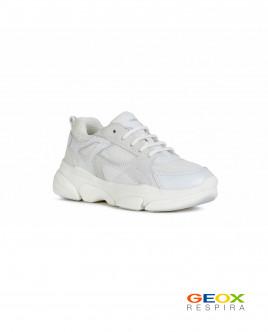 Белые кроссовки Geox для девочки