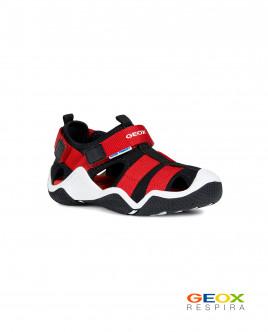 Черно-красные сандалии Geox для мальчика Gulliver